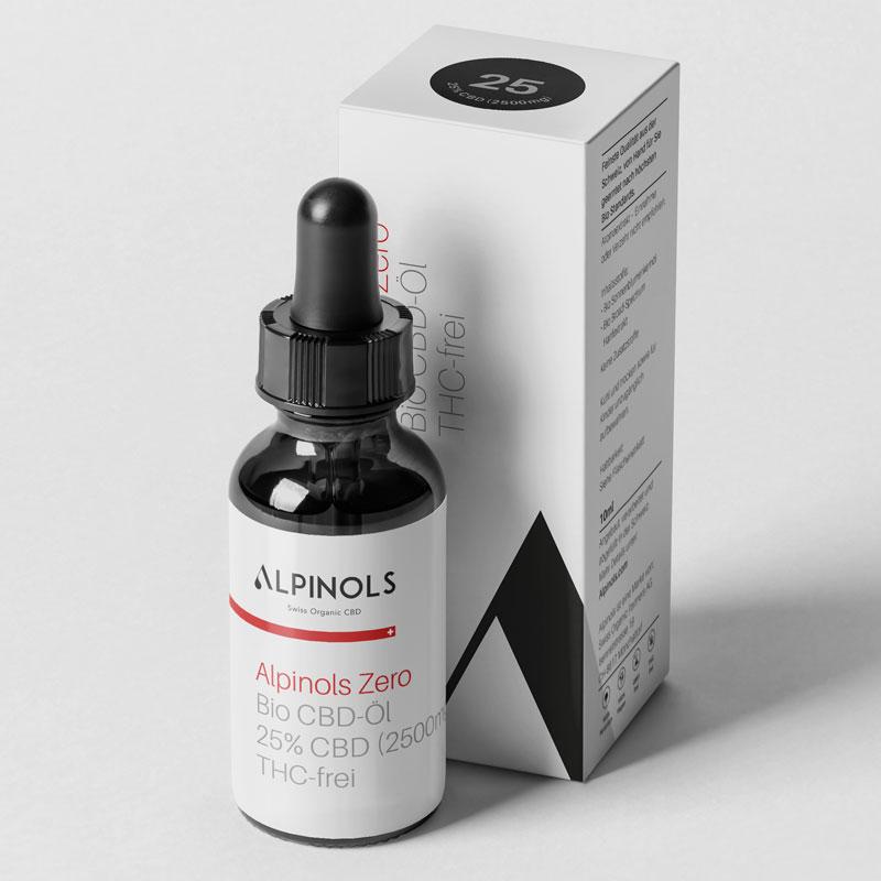 Alpinols CBD Öl 25% ohne THC