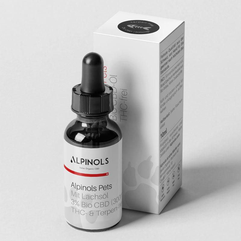 Alpinols CBD Öl für Katzen mit Lachsöl 3% ohne THC